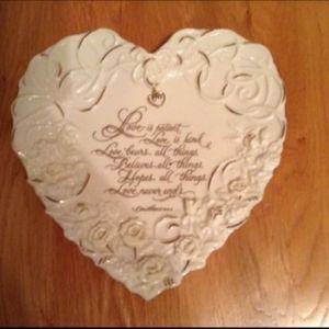 Bradford Exchange Heart Shaped Signed Plate